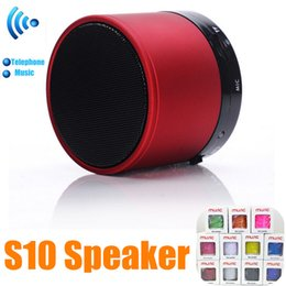 Wholesale Free Calls Computer - S10 wireless Speaker Outdoor MINI Stereo Portable Speakers Handfree Mic TF Card Call Function DHL Free No Logo In Retail Box 10 colors