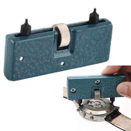 Wholesale Watch Case Screw Back Opener - Wholesale-Watch Repair Tool Kit Adjustable Back Case Opener Cover Remover Screw Watchmaker Open Battery Change