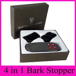 Wholesale Electric Shocking Remote Control - 4 in 1 Remote Control Electric Shock Bark Stopper Dog Trainer Collars With Electroshocks + Vibration + Sound + Lighting Anti Barking Control