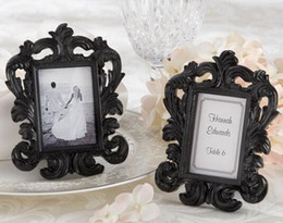 Wholesale Black White Place Cards - 5Pcs Black White Baroque Place Card Holder Wedding Decorations Table Centerpieces Hot Sale 2016 May Style
