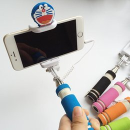 Wholesale Wire Shaft - WholesaleMINI cell phone fold since the shaft Take artifact For IOS android Audio Cable Remote Control Selfie monopod