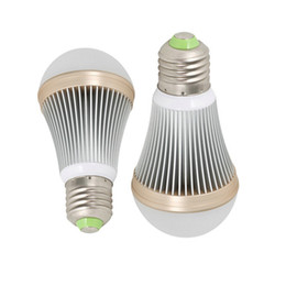 Wholesale Golden Base - led light bulbs dimmable 3W 5W 7W 9W 12W E26 E27 B22 base aluminum body golden edge globe bulbs smd5730 cree chip AC85-265V