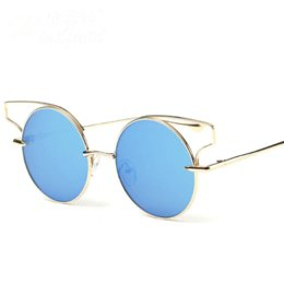 Wholesale Gafas Sol For Sale - 2016 Hot Sale Top Fashion Metal Round Sunglasses For Ladies Luxury Brand Sun glasses oculos gafas de sol Free shipping tyj305