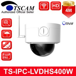 Wholesale Nightvision Dome - TSCAM New TS-IPC-LVDHS400W HD 4MP Wifi Wireless Dome IP Camera 4X Manual Zoom Lens IR NightVision H.265 P2P CCTV Security Cam