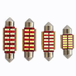 Wholesale Point Reading - Automotive LED double-pointed 12SMD light -31 36 39 41 mm high 4014 license plate lamp reading light car roof lights