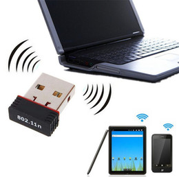 Argentina 150Mbps Mini USB WiFi Adaptador inalámbrico LAN 802.11 n / g / b Adaptador Nano Red N 150M LAN adaptador para portátil de escritorio desktop wireless network for sale Suministro
