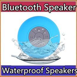 Étanche sans fil Bluetooth haut-parleurs antipoussière Mini haut-parleur mains libres Sucker coloré BTS-06 CHAUD bonne qualité Livraison DHL gratuite A-YX ? partir de fabricateur