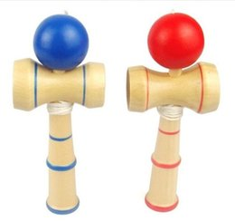 Wholesale Wood Toy Swords - Kendama Janpanese Traditional Wooden Toys Skill Ball 13cm Sword ball Games for Adult Children kendama balls Novelty Christmas toys