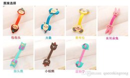 Wholesale Kawaii Headphones - Similar romane Kawaii Cartoon Animal Long Cable Winder Headphone Earphone The headset bobbin winder Organizer Wire Holder