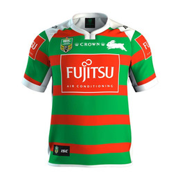Wholesale Rabbit S - Top quality 2017 18 seasons South Sydney rabbit Rugby jerseys rugby shirts 2017 SOUTH SYDNEY RABBITOHS 2017 AWAY JERSEY men euro size S-3XL
