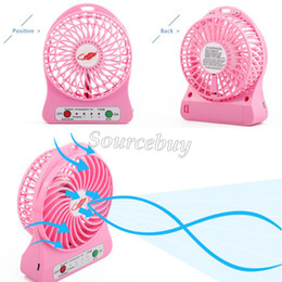 Wholesale Table Lamps Rechargeable Batteries - 18650 Big Battery F95B Fans USB Mini Fan LED Lamp Portable Rechargeable Cooling Kids Table Adjustable 3 Speed outdoor indoor Free Shipping