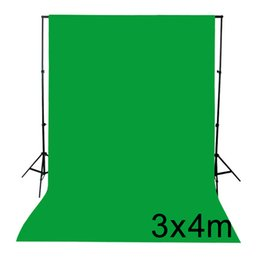 Wholesale Muslin Backdrops For Photography - Photography equipment 3x4m Green Black White Screen Cotton Muslin backdrop lighting studio Chromakey for Photo Not include Support