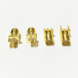 Wholesale Mini Sma - 50Pcs\Lot Freeshipping Gold SMA Female SMA-KE Jack Solder PCB Clip Edge Mount Straight RF Adapter Connector 0.062'' 1.6mm