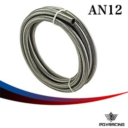 """Wholesale Braided Fuel Hose - PQY RACING-AN12 12AN AN -12 (17.5MM   17 25"""" ID)STAINLESS STEEL BRAIDED FUEL OIL WATER HOSE 5 METER PQY7115"""