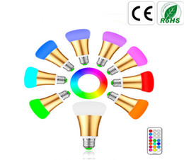 Wholesale Color Mood Light - 10W E27 E26 LED RGB RGBW Color Changing Globe Bulbs Dimmable Led Bulbs Light Magic Mood Light Lamp with Timer Function Remote Control