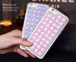 Wholesale Handmade Iphone5 Cases - Luxury Bling Crystal Rhinestones Handmade Square Diamond Cell Phone Case Imported TPU Protective Cell Phone Case for Iphone5 6 6plus