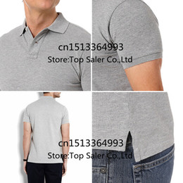 Wholesale Blue Brand Shirts - Wholesale-Small Horse Freeshipping Famous Brand Top Quality Men's Solid Tops Short Sleeves Casual Shirts Male Summer Dress Sport 23