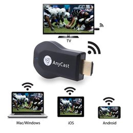 Wholesale Hot Sale AnyCast TV Stick Miracast Airplay DLNA Dongle Smart Wifi Display for iOS Andriod Better than Ezcast Chromecast With Retail Package