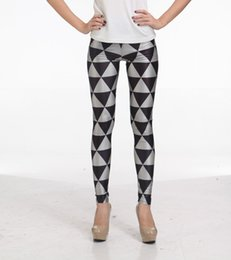 Wholesale Jeggings Pants Galaxy - Women's Black Milk Galaxy Digital Printing Leggings For Women Sexy Slim Silver Black Plaid Plus size Jeggings Pencil Pants S-4XL