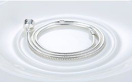 Wholesale Silver Snake Chain Necklace Wholesale - Summer sale 18inch 46cm 3MM Snake necklace Fashion Chain DIY Accessories Charm necklace fit for pandora European Jewelry Snake chain