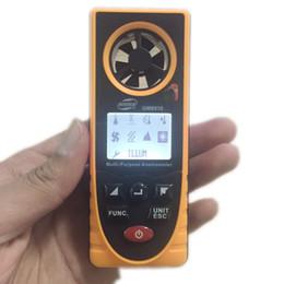 Canada Portable Multi-funcation Anémomètre Numérique Mini Air Échelle de vitesse du vent Compteur GM8910 Convient pour mesurer la température Humidité Sauvegarde de données Offre