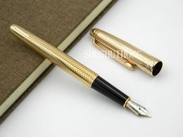 Wholesale Mb Types - metal 163 golden serial number offiice new MB Wave pattern Fountain Pen