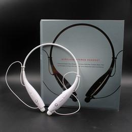 Wholesale Ipad Bluetooth Headset Music - HBS 730 HBS730 Wireless Stereo Headset Bluetooth Earphone Music Sport headphone For ipad Samsung Neckband Tone headphone EAR001