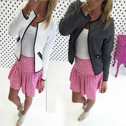Wholesale Women Outfit Business - Wholesale- Fashion Casual Women Slim Business Outfits Coat Casual Suit Outwear Jacket Short Coat Spring Autumn Clothing Women