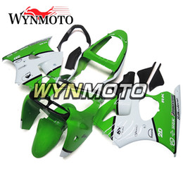Wholesale Zx6r Frame - Fairings For Kawasaki ZX6R 2000 - 2002 Green White ABS Plastics Injection Hulls Motorcycle Fairing Kit Bodywork Body Kit Body Frames