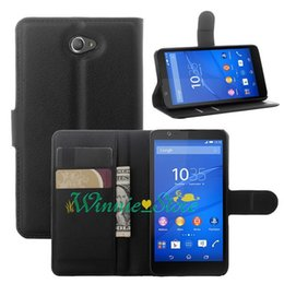 Wholesale xperia cell phone cases - New Arrival Wallet Stand PU Leather Case For Sony Xperia E4 Hight Quality Cell Phone Case Cover with stand