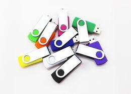 Wholesale Swivel Memory Sticks - 2GB 4GB 8GB 16GB Swivel Metal USB 2.0 Memory Thumb Stick Flash Pen Drives Storage U Disk Gift