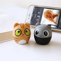 Wholesale Mini Mouse Speaker - New Ultra Mini Bluetooth Speaker Wireless Portable Cute Cartoon Cat Music Bass Loudspeaker Support Phone Handsfree MP3 Player Cartoon mouse