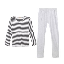 Wholesale Cheapest Clothes - Wholesale-2016 new cheapest clothes classic stripes sleepwear casual pajama set for men modal home dress