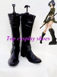 Wholesale Hitman Cosplay - Wholesale-Freeshipping anime Hitman Reborn Chrome Dokuro Black Cosplay Boots shoes custom-made Hand made for Halloween Christmas