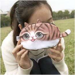 Wholesale Cute Animal Wallets - 2016 women coin purses wallet ladies 3D printing cats dogs animal big face change fashion cute small zipper bag 18*12cm
