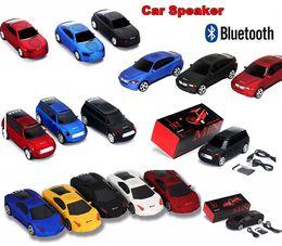 Wholesale Cool Phone Speakers - Super Cool Bluetooth speaker LED Light Car Shape Wireless bluetooth Speaker Portable Outdoor Loudspeakers Sound Box for Samsung iPhone IPAD