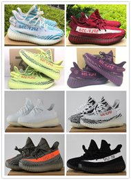 Wholesale Uv Test - Drop Shipping 2017 High Quality Cream White Sply 350 v2 Pass UV Test V2 Shoes 350 Boost Kanye West Running Shoes size 36-46