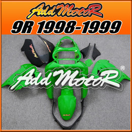 Wholesale Zx9r Black - Fairings Addmotor New Arrival Compression Mold ABS For Kawasaki ZX9R ZX 9R 1998-1999 Green Black K9817 +5 Free Gifts Hot Sale
