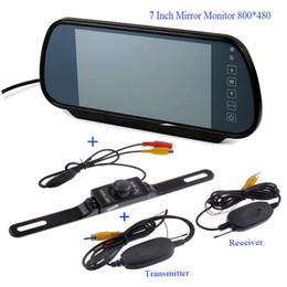 Wholesale Touch Screen Car Camera - 7 Inch TFT LCD Car Mirror MP5 Car Reverse Rearview Touch Screen Monitor with Car Rear View Parking Camera