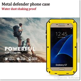 Wholesale Metal Dust Proof Phone - 1 pcs a lot High quality composite armor phone case phone cover water dust shock proof metal case for samsung s 3 4 5 6 note 3 4 5