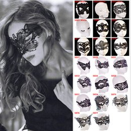 Wholesale Girls Butterfly Mask - 20 Styles Dancing Party Women Lace Half Mask Fancy Ball Masquerade Fox Butterfly Masks Girls Sexy Mask For Prom Halloween Costume