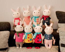 Wholesale Toys Tiramisu - 2017 Valentine's Day gift the tiramisu rabbit METOO microphone Rabbit doll plush toy with gift box