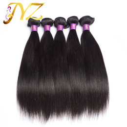 Wholesale Cheap Quality Hair Weave - Top quality 100% Brazilian hair Pure Human Hair Natural color Straight Extension Cheap Unprocessed Hair 4 bundles lot Quality