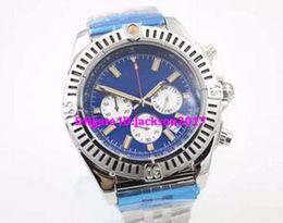 Wholesale 48mm Quartz - Luxury watch Special Edition Chronometre Quartz Men's Wristwatch Three Zone 48mm Full Stainless Steel Belt Black Face Male Moon Watch Relojo