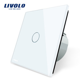 Wholesale Glass Gang - Livolo Luxury White Crystal Glass ,Wall Switch, Touch Switch, Normal 1 Gang 1 Way Switch, C701-11 2 5