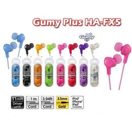 Wholesale Huawei Mp3 - Gummy Earphones HA FX5 3.5mm MP3 Earphone No MIC Earbuds Colorful for iphone 6s plus iPod Xiaomi Samsung Huawei HTC Headphones