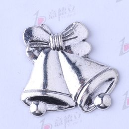 Wholesale Bronze Jewelry Bell Charms - Bell bow antique Silver bronze Classical DIY Pendant Fit Bracelets Necklace Charms Metal Jewelry Making 75pcs lot 3465