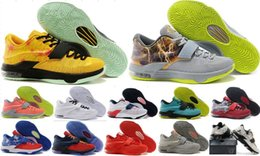 Wholesale Kd High Cut - Wholesale kevin Durant KD 7 Men Basketball Shoes Retro KD7 Sports Shoes Athletic Running Shoes High Quality With Standout Midsole 5-7-12-13