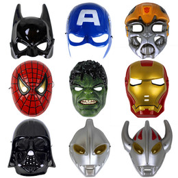Wholesale People Heroes - New fashion Avengers Hero Halloween Masquerade Mask Adult Kid Party Masks Super Hero Altman ,Small yellow people Man Masks