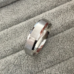 Wholesale Tungsten Steel Price - Classic Silver tone wide 6mm men engagement rings 316L tungsten steel finger rings for men wholesale price USA size 6-14